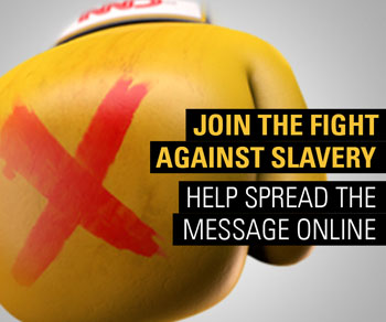 Join the fight against slavery. Help spread the message online.